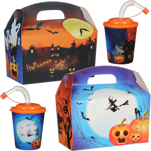 Kidsbox, Cardboard, Halloween, met 3D drinks cup, 150x214x115mm 1