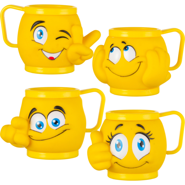 Ice-cream tub, Emoji, Plastic , 200ml, jaune 1