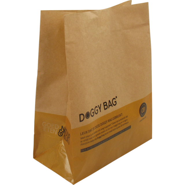 Bag, Doggy bag, 22x28cm, brown  1