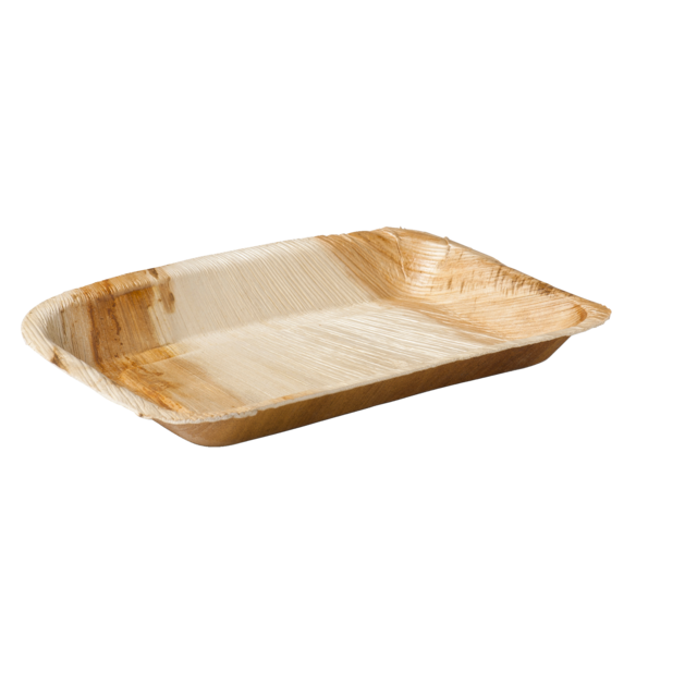 Biodore® Plate, rectangular, 1 compartment, Palm frond, 24x16cm,  1