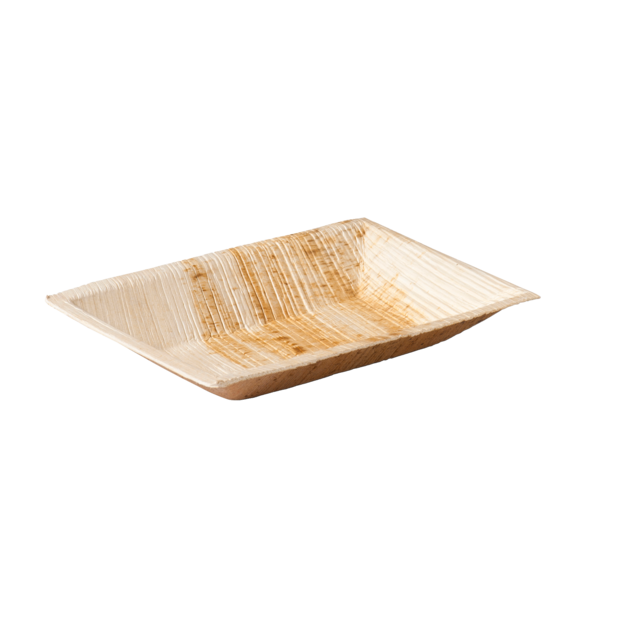 Biodore® Plate, rectangular, 1 compartment, Palm frond, 17x12cm,  1