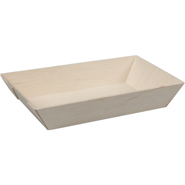 Biodore® Bowl, falcata wood, rectangular, 155x85x28mm, natural 1