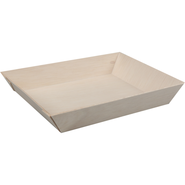 Biodore® Bowl, falcata wood, rectangular, 180x130x28mm, natural 1