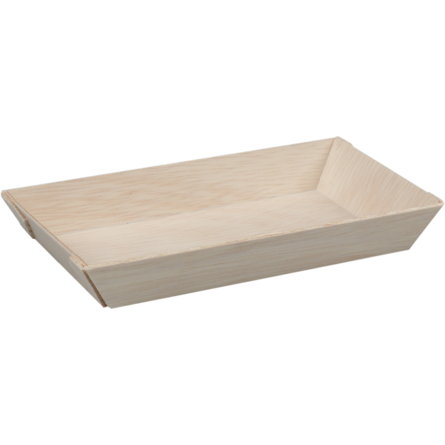 Biodore® Bowl, falcata wood, rectangular, 130x65x20mm, natural 1