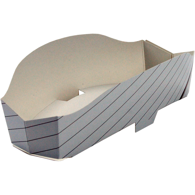 Container, Cardboard, sandwich Wedge, 170x75x50mm, natural 1