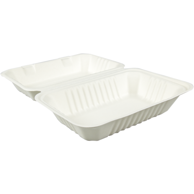 Biodore® Container, Bagasse, meal tray, 303x231x 1