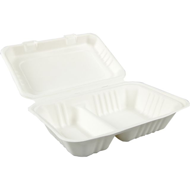 Biodore® Container, Bagasse, meal tray, 310x230x44mm,  1