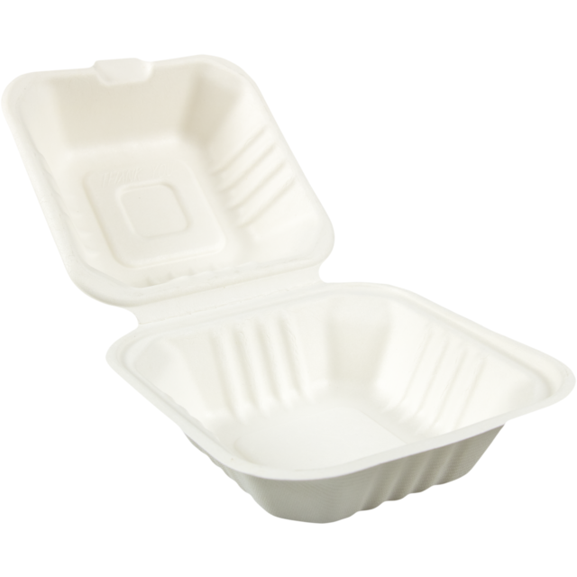 Biodore® Container, Bagasse, 450ml, hamburger container, 150x150x 1
