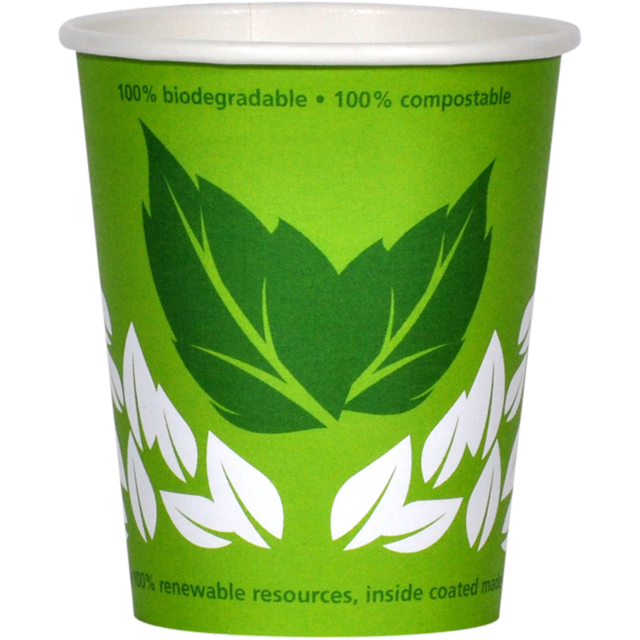 Bio hot cup, Enjoy the World, karton und PLA, 200ml, green 1