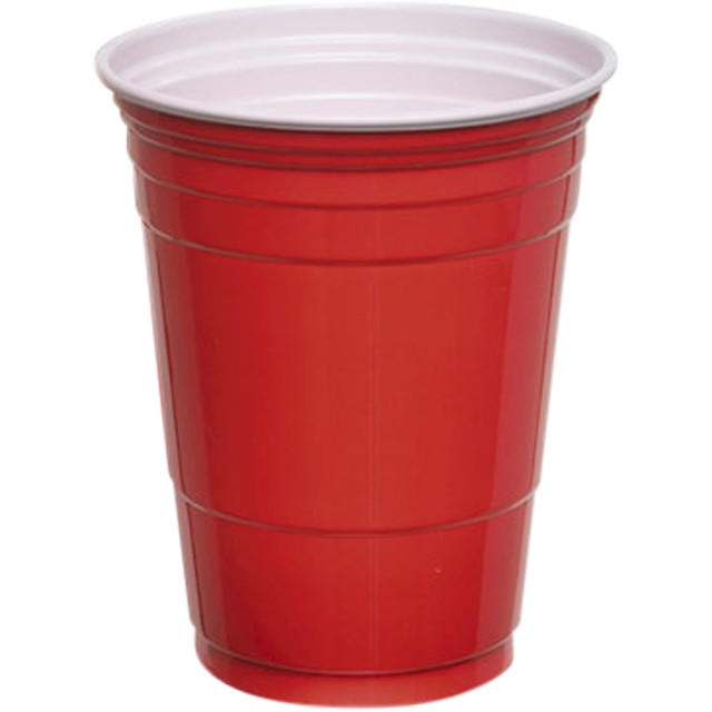 DEPA®, Drinking cup, PS, 300ml, 10oz, red 1