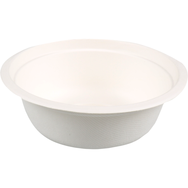 Biodore® Bowl, Bagasse, round, 500ml, 54mm, ∅155mm, white 1