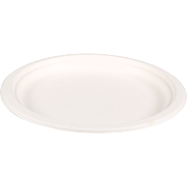 Biodore® Plate, round, 1 compartment, Bagasse, Ø230mm, white 1