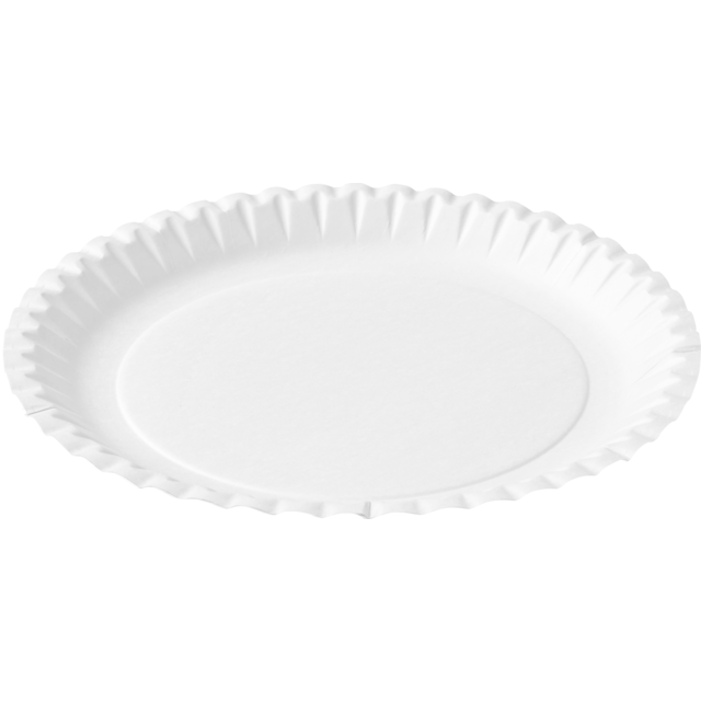 Biodore® Plate, round, 1 compartment, Cardboard, Ø150mm, white 1