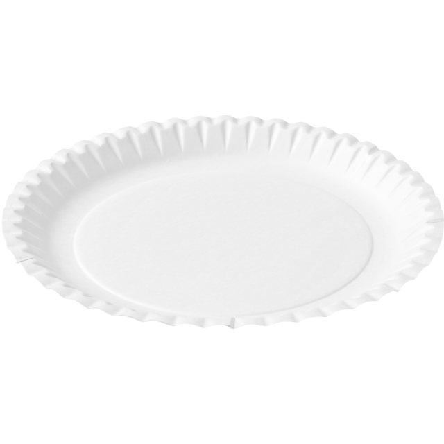 Biodore® Plate, round, 1 compartment, Cardboard, Ø190mm, white 1