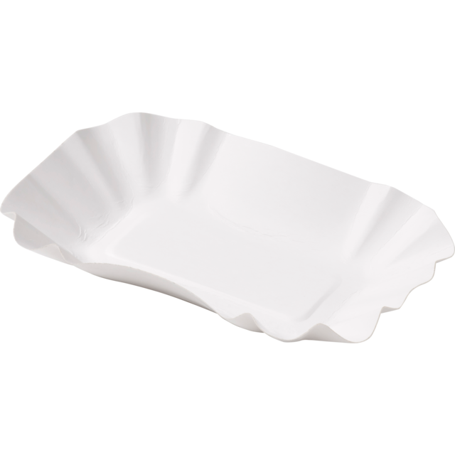Biodore® Bowl, Cardboard, rectangular, 90x140x30mm, white 1