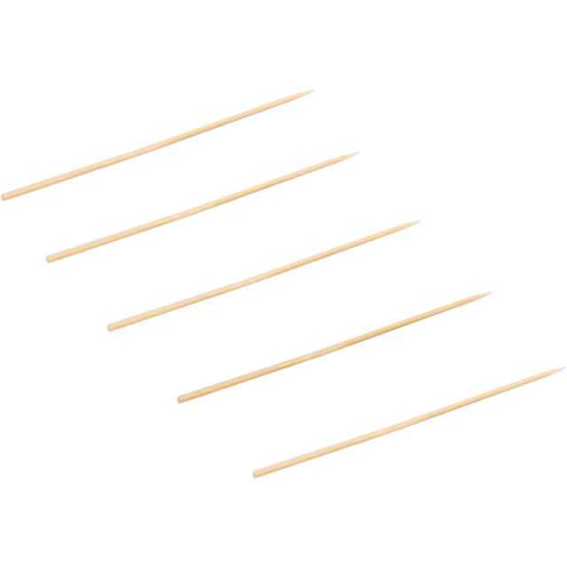 Biodore® Cocktail sticks, satay skewer, Bamboo, 150mm, natural 1
