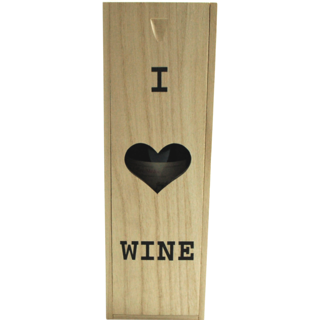 Wine box, wood, 1 bottle , with lid, 100x345x110mm 1
