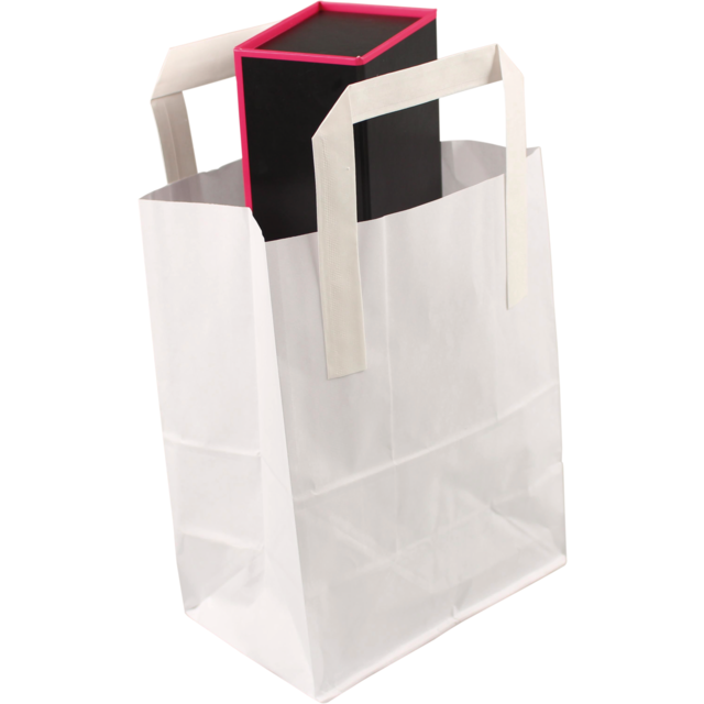 Bag, Paper, 30.5x 12.5x40.5cm, paper carrier bag, white 1