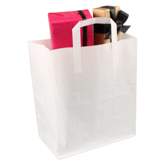 Bag, Paper, 380x305x250mm, paper carrier bag, white 1