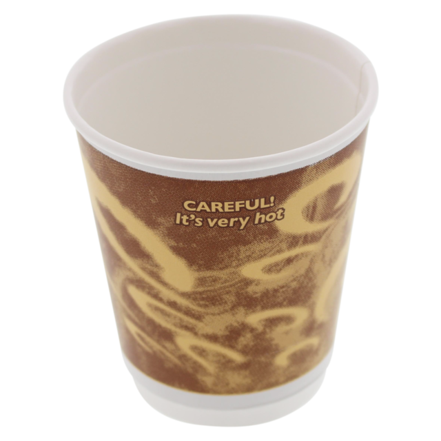 Double-walled cup, Paper, 8oz, 92mm, brown  1
