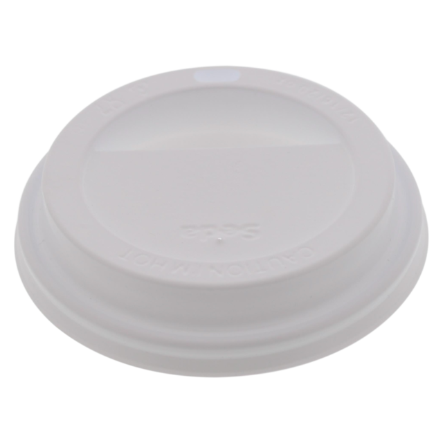 Lid, PS, round, white 1