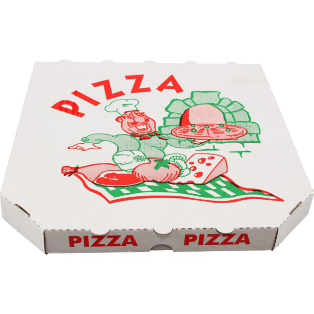 Pizza box, Paper, 10x10x1.5inch, single corrugation, assorted 1