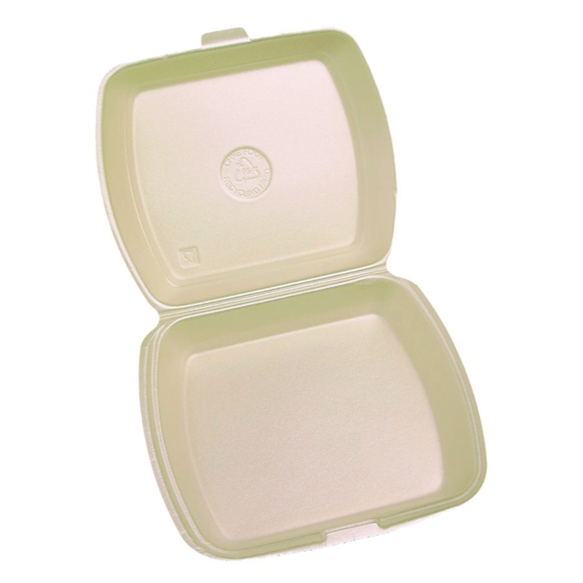 Meal tray, PS, 1 compartment, 9x9x3inch, peach 1