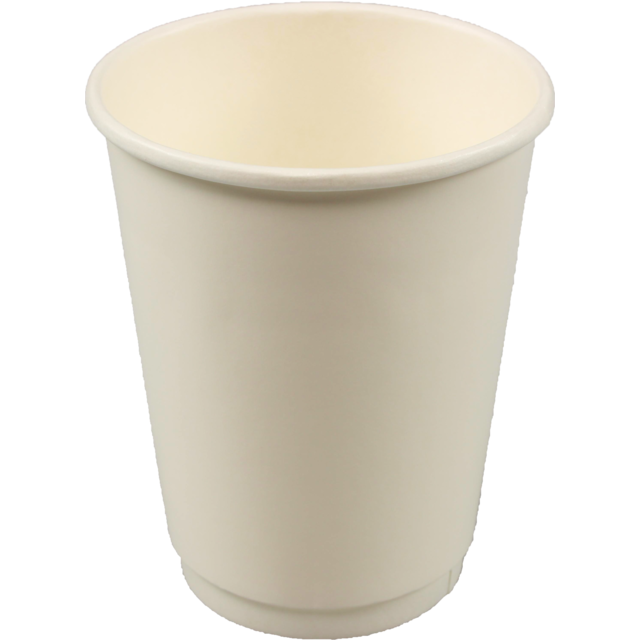 Double-walled cup, Paper, 12oz, 110mm, white 1