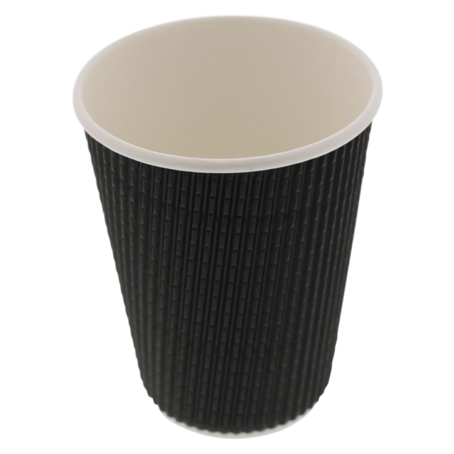 Ripple cup, Paper, 12oz, 110mm, black 1