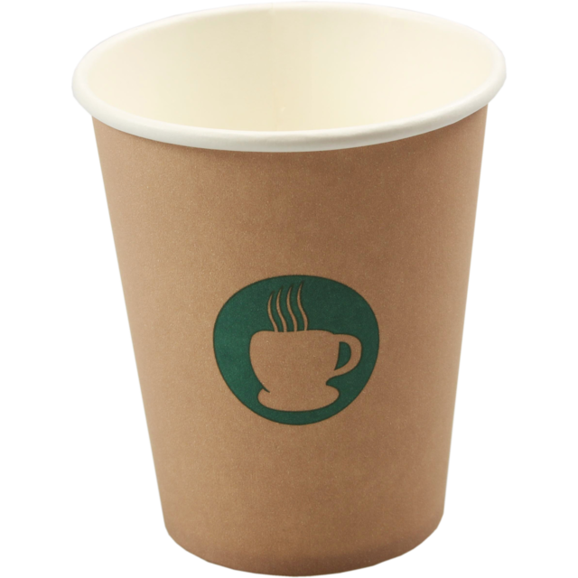 Single-walled cup, Paper, 8oz, 92mm,  1