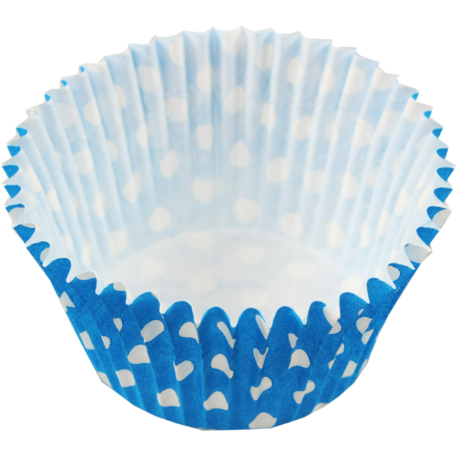 Cupcake case , Paper, round, ø51mm, 38mm, blue 1