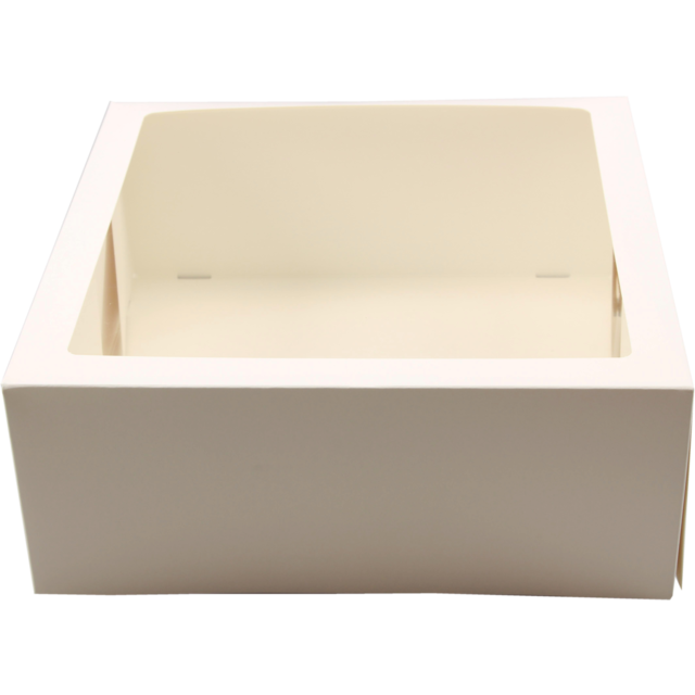 Cake box, Cardboard, 8x8x4inch, with window, white 1