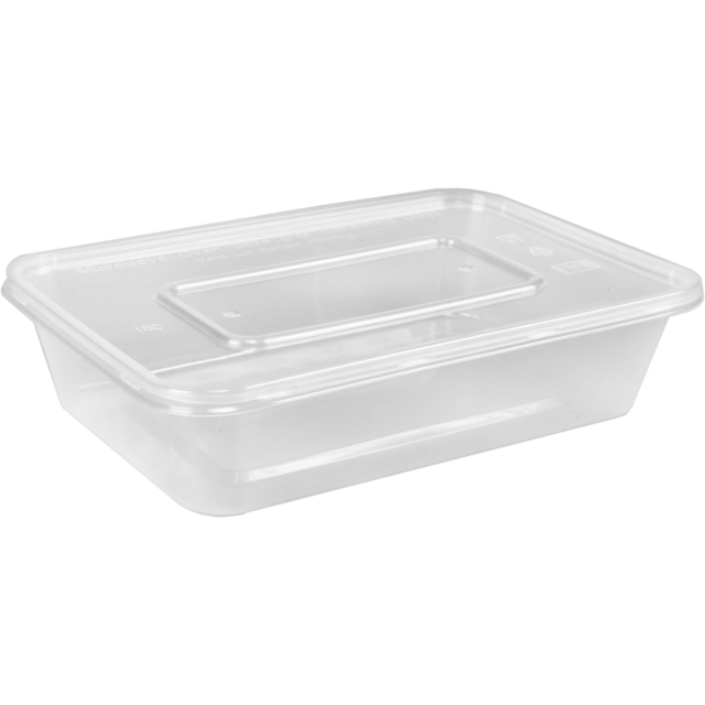 Container, plastic, 650ml, 178x124x48mm, transparent 1