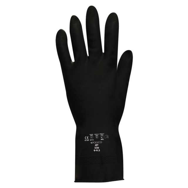 ComFort Gloves , latex, jet, S, black 1