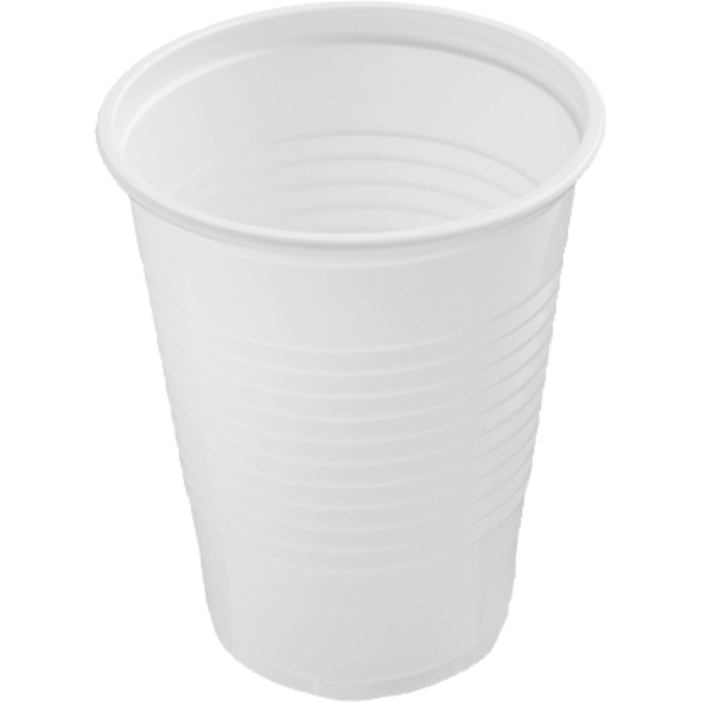 Drinking cup, PS, 7oz, 87mm, white 1