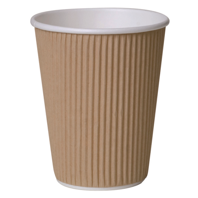 Ripple cup, Paper, 12oz, 110mm, brown  1