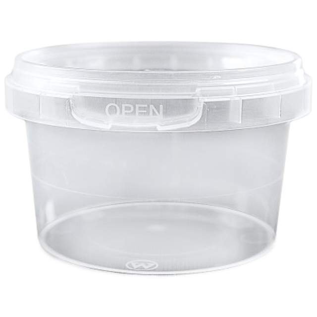 Container, PP, 240ml, Ø9cm, transparent 1