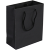 Bag, Art paper, Deluxe bag with cord, 16x 8x19cm, carrier bag, black
