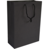 Bag, Art paper, Deluxe bag with cord, 27xSide fold 12x37cm, carrier bag, black