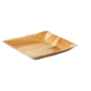 Biodore® Plate, square, 1 compartment, Palm frond, 18x18cm,