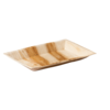 Biodore® Plate, rectangular, 1 compartment, Palm frond, 25x16cm,