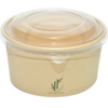 DEPA® Container, Bamboo paper/PE, 1000ml, salad container, 60mm, natural