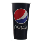 Pepsi, Cold cup, Karton/Coating, 400ml, 16oz, 128mm, blue/Red