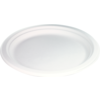 Biodore® Plate, round, 1 compartment, bagasse, Ø150mm, white