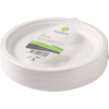 Biodore® Plate, round, 1 compartment, bagasse, Ø260mm, white