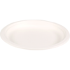 Biodore® Plate, round, 1 compartment, Bagasse, Ø180mm, white