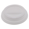 Lid, PS, round, white