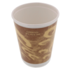 Double-walled cup, Paper, 16oz, 135mm, brown