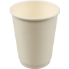 Double-walled cup, Paper, 8oz, 92mm, white
