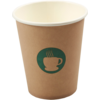 Single-walled cup, Paper, 8oz, 92mm,